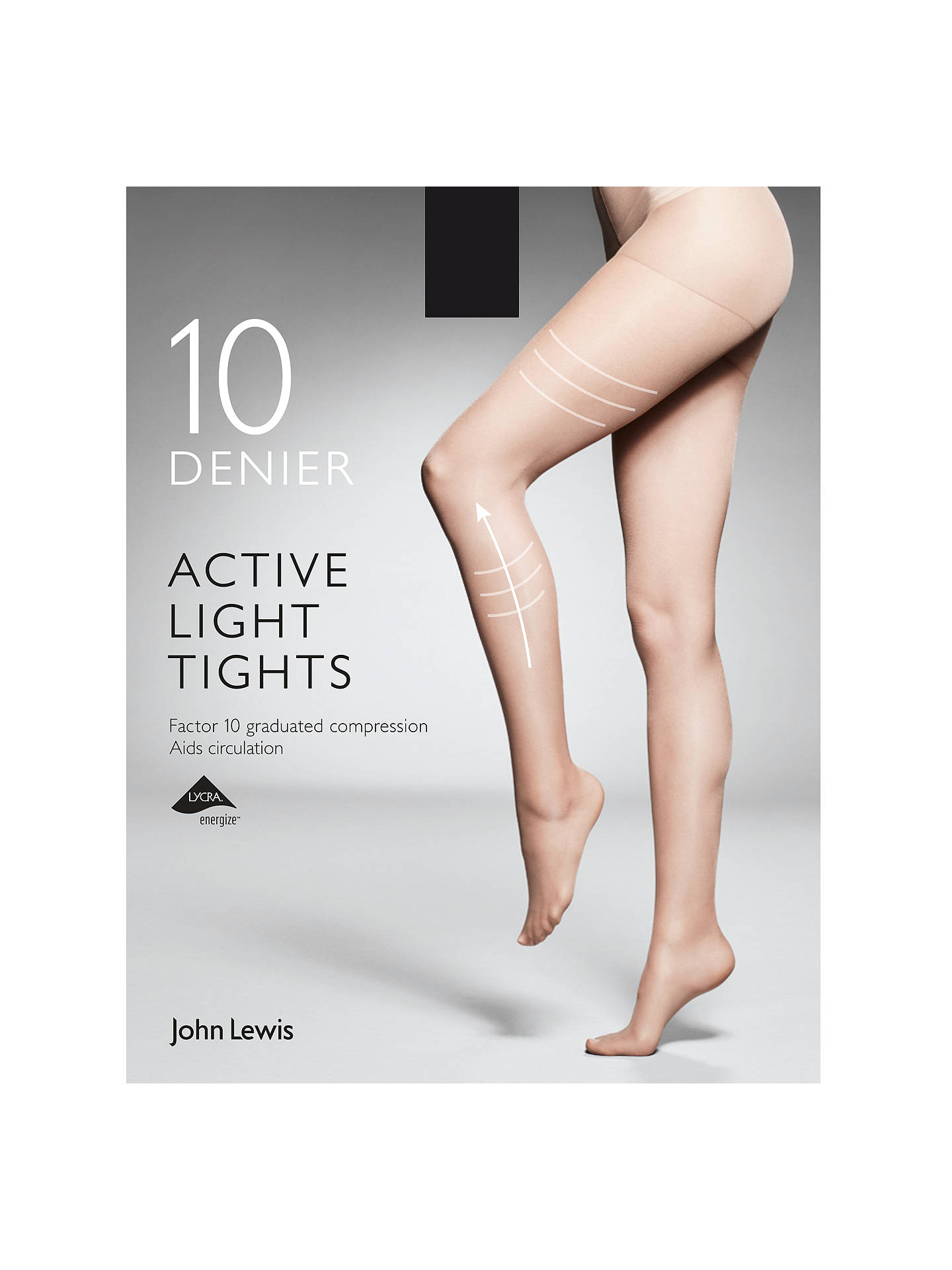 e025aeed8bd Buy John Lewis   Partners 10 Denier Firm Support Active Light Sheer Tights