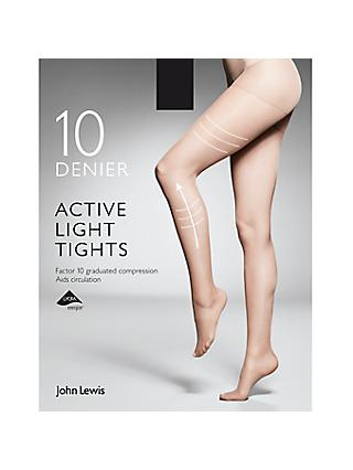 John Lewis & Partners 10 Denier Firm Support Active Light Sheer Tights