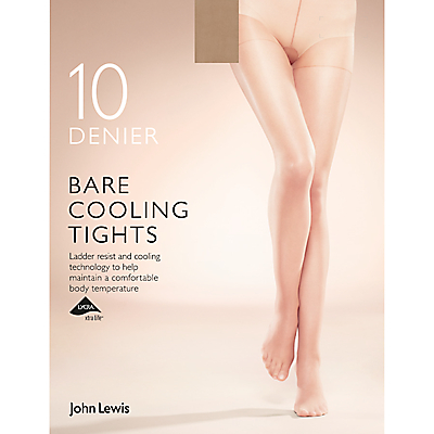 John Lewis 10 Denier Bare Cooling Tights, Pack of 1