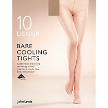 Buy John Lewis 10 Denier Bare Cooling Tights, Pack of 1 Online at johnlewis.com