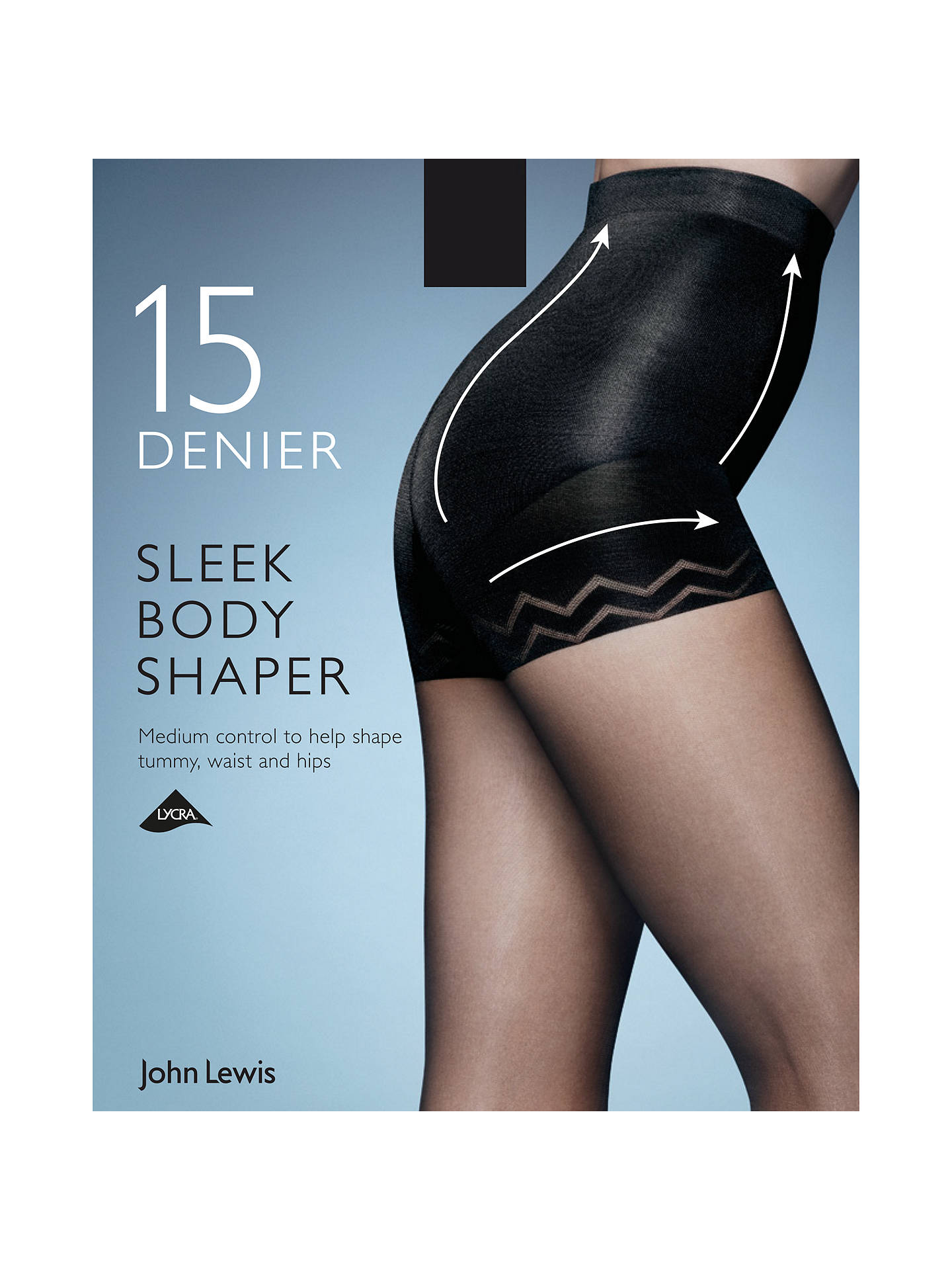 ec8a619b5 Buy John Lewis   Partners 15 Denier Sleek Body Shaper Tights