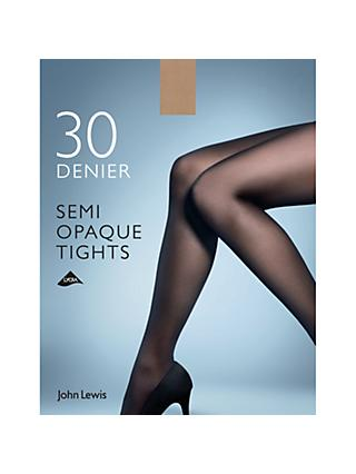 John Lewis & Partners 30 Denier Semi Opaque Tights