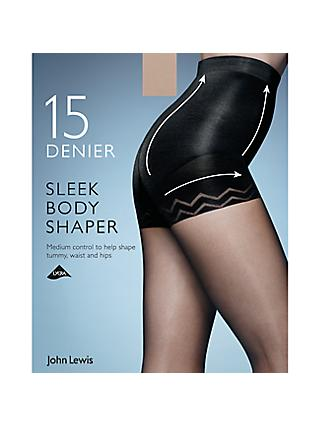 John Lewis & Partners 15 Denier Sleek Body Shaper Tights, Pack of 1