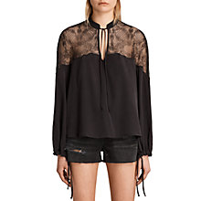 Buy AllSaints Laya Lace Shirt Online at johnlewis.com