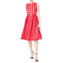 Buy Precis Petite Check Flared Dress, Bright Red Online at johnlewis.com