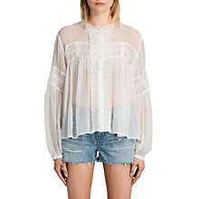 Buy AllSaints Pinto Shirt, Chalk White Online at johnlewis.com