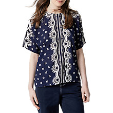 Buy Warehouse Bandana Print T-Shirt, Navy Online at johnlewis.com