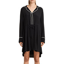 Buy AllSaints Leon Shirt Dress, Black Online at johnlewis.com