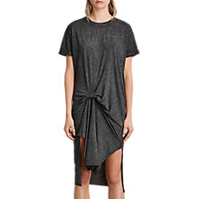 Buy AllSaints T-Rivi Dress, Ash Black Online at johnlewis.com