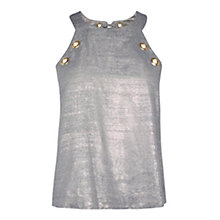 Buy Coast Aria Chambray Eyelet Top. Blue Online at johnlewis.com