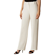 Buy Karen Millen Fluid Wide Leg Tailored Trousers, Ivory Online at johnlewis.com