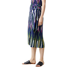 Buy Warehouse Rainbow Ikat Tie Front Skirt, Navy Online at johnlewis.com