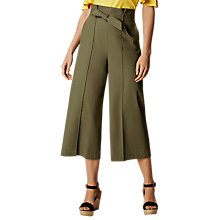 Buy Karen Millen Cropped Tailored Trousers, Khaki Online at johnlewis.com
