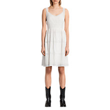 Buy AllSaints Silk-Blend Pinto Dress, Chalk White Online at johnlewis.com