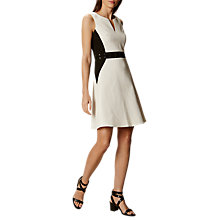 Buy Karen Millen Textured Eyelet Dress, Black/White Online at johnlewis.com