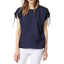 Buy Warehouse Ruched Sleeve Top Online at johnlewis.com