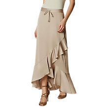 Buy Karen Millen Long Ruffle Skirt, Neutral Online at johnlewis.com