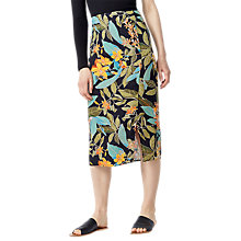 Buy Warehouse Tropical Garden Skirt, Black Pattern Online at johnlewis.com
