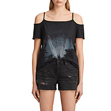 Buy AllSaints Ceylon Tyra T-Shirt, Fadeout Black Online at johnlewis.com