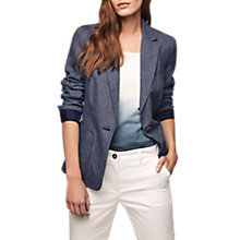 Buy Gerard Darel Vanity Linen Jacket, Blue Jeans Online at johnlewis.com