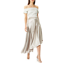 Buy Coast Harris Metallic Skirt, Champagne Online at johnlewis.com
