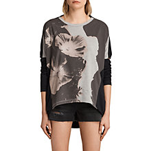 Buy AllSaints Reality Wave T-Shirt, Multi/Black Online at johnlewis.com