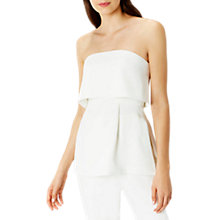 Buy Coast Anya Bardot Side Slit Top, Ivory Online at johnlewis.com