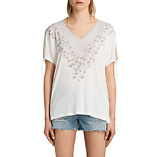 Buy AllSaints Loire V-Neck Kay T-Shirt Online at johnlewis.com