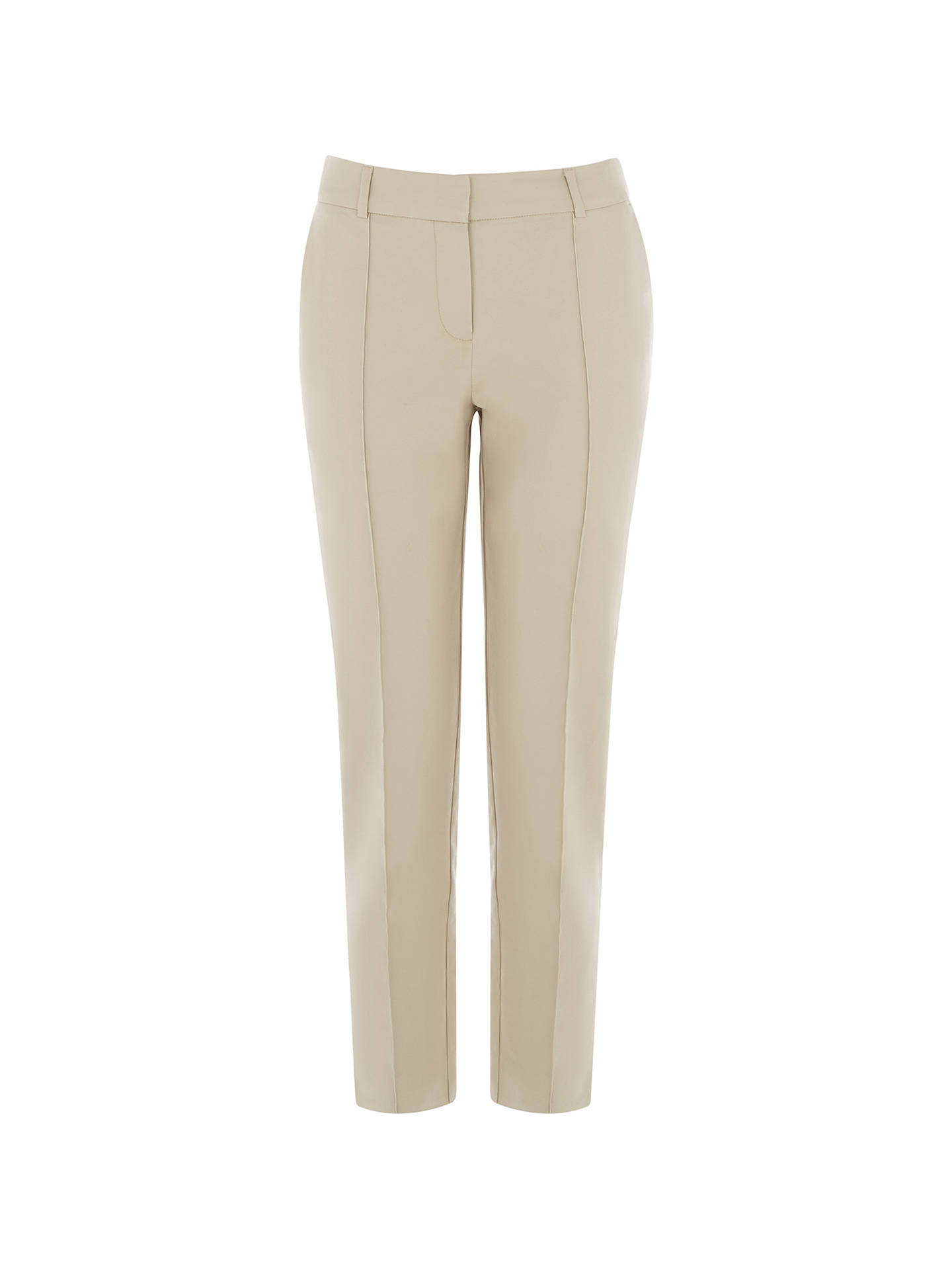 BuyWarehouse Compact Cotton Trousers, Stone, 6 Online at johnlewis.com
