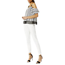 Buy Coast Nicolette Trousers, Ivory Online at johnlewis.com