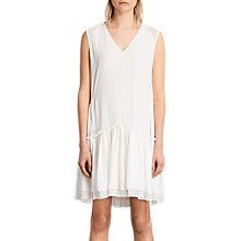 Buy AllSaints Alia Sleeveless Dress, Chalk White Online at johnlewis.com
