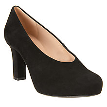 Buy Unisa Nebula Block Heeled Court Shoes, Black Online at johnlewis.com