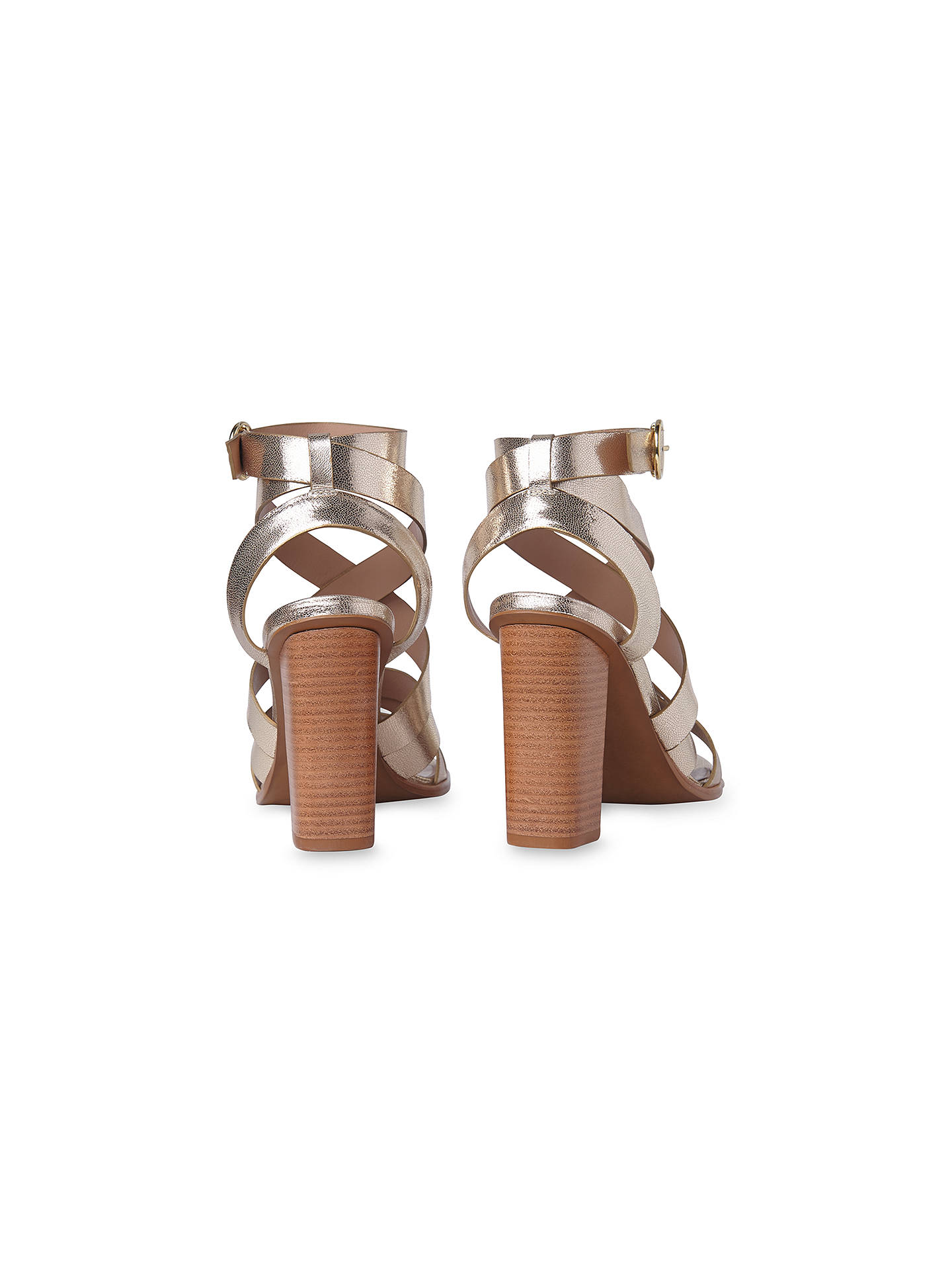 c9b09428495b Whistles Ivor Crossover Block Heeled Sandals at John Lewis   Partners