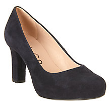 Buy Unisa Numis Block Heeled Court Shoes, Navy Online at johnlewis.com