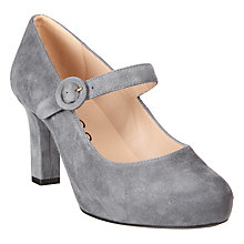 Buy Unisa Naomi Block Heeled Court Shoes, Glacier Online at johnlewis.com