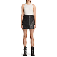 Buy AllSaints Setal Leather Skirt, Black Online at johnlewis.com