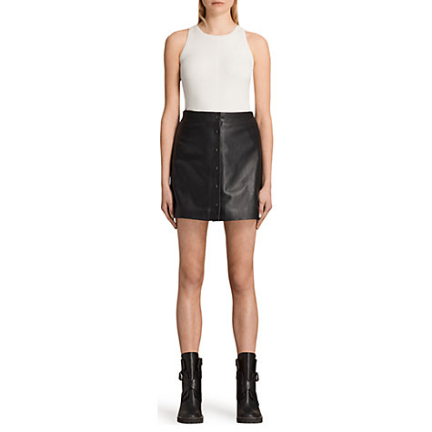 100% Leather | Women's Skirts | John Lewis