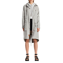 Buy AllSaints Agnes Parka Coat, Ice Blue Online at johnlewis.com