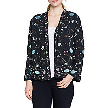 Buy East Floral Embroidered Jacket, Ink Online at johnlewis.com