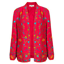 Buy East Vibrant Floral Embroidered Kimono Jacket, Magenta/Multi Online at johnlewis.com
