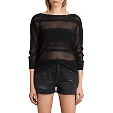 Buy AllSaints Springs Slash Neck Jumper, Black Online at johnlewis.com