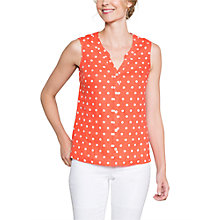Buy East Linen Spot Sleeveless Shirt, Calypso Online at johnlewis.com