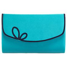 Buy Jacques Vert Scallop Piped Clutch Bag, Turquoise Online at johnlewis.com