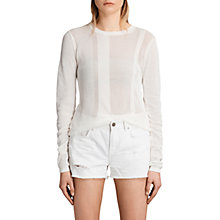 Buy AllSaints Springs Crew Neck Slim Fit Jumper Online at johnlewis.com
