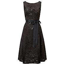 Buy Jacques Vert Lazer Cut Flower Dress, Black Online at johnlewis.com