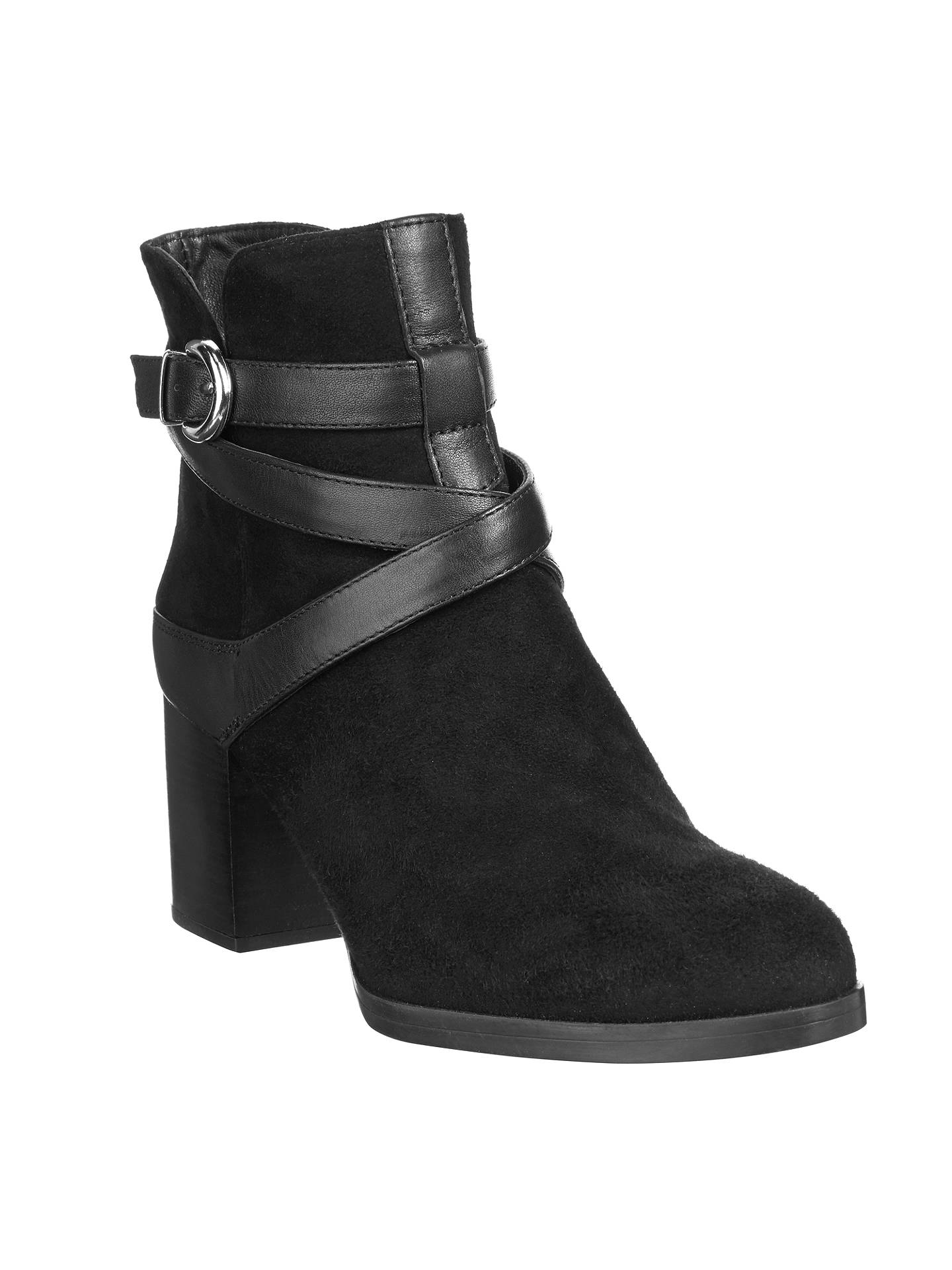459a97061 Buy Unisa Micael Block Heeled Ankle Boots, Black, 4 Online at johnlewis.com  ...