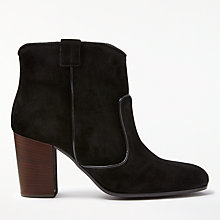 Buy John Lewis Odele Block Heeled Ankle Boots, Black Online at johnlewis.com