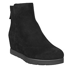 Buy Unisa Creso Wedge Heeled Ankle Boots, Black Online at johnlewis.com