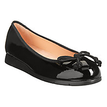 Buy Unisa Alcot Bow Ballet Pumps, Black Online at johnlewis.com