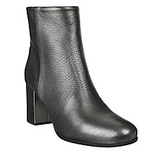 Buy Unisa Omer Block Heeled Ankle Boots, Black Metallic Online at johnlewis.com
